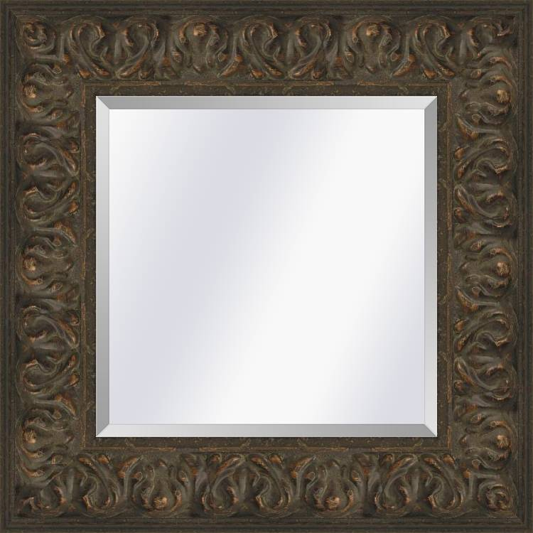 Brocante spiegel Met ornament Sevilla Bruin eiken large 87mm