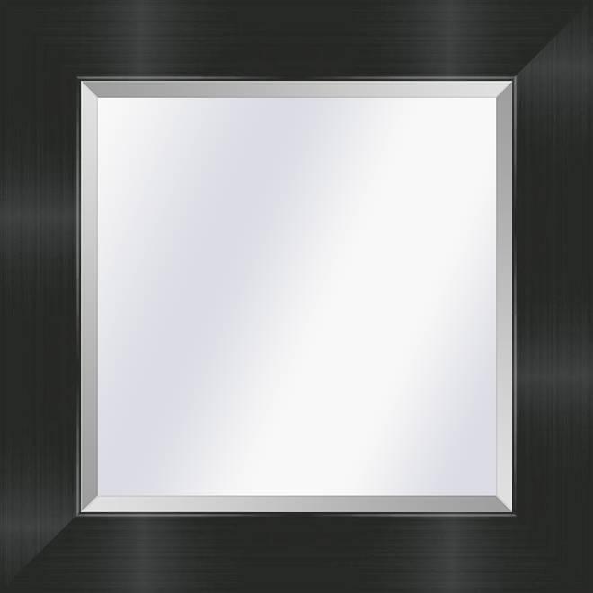 Moderne en strakke spiegel Tate Satijn zwart medium 57mm