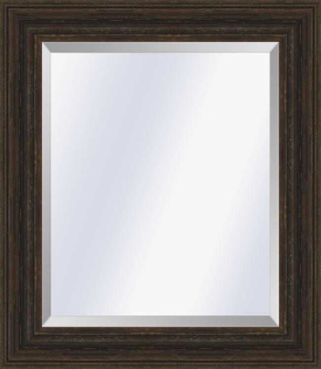 Brocante spiegel Sevilla Bruin eiken large 80mm