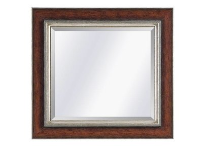 Barokspiegel.nl Mirror Lucerne Redbrown-silver large 93mm