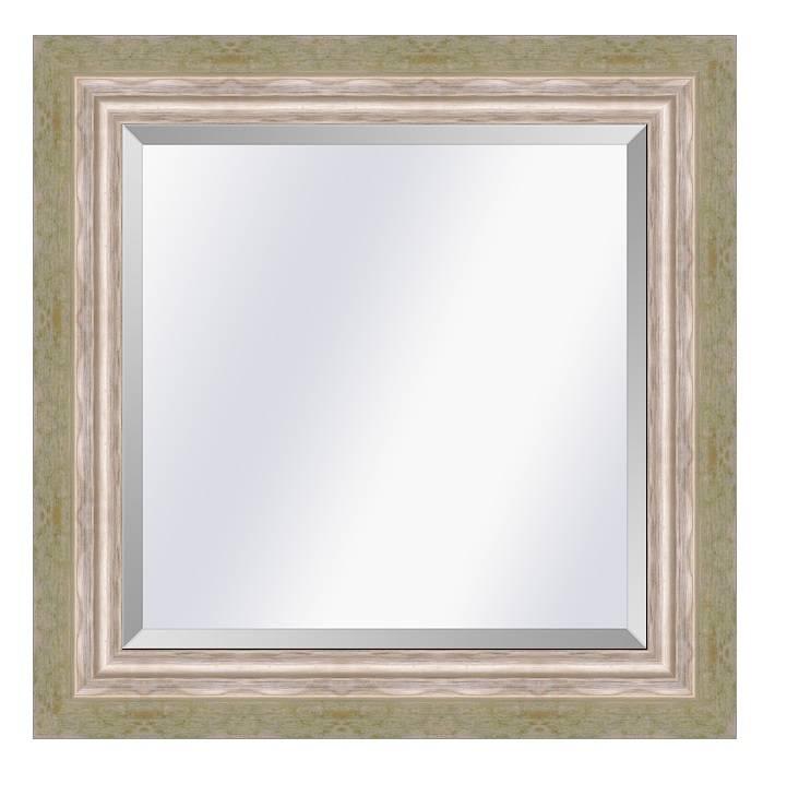 Moderne spiegel Lucerne Groen creme-zilver medium 52mm