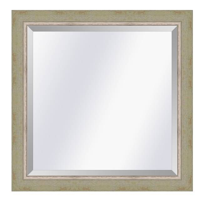 Moderne spiegel Lucerne Groen creme-zilver small 29mm