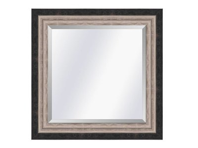 Barokspiegel.nl Mirror Lucerne Black-silver medium 52mm