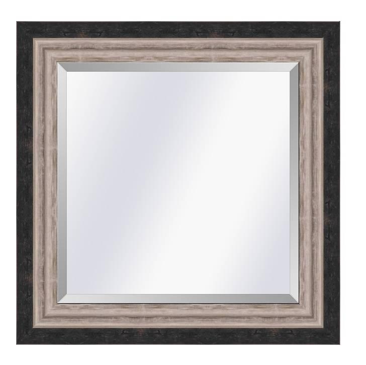 Moderne spiegel Lucerne Zwart-zilver medium 52mm