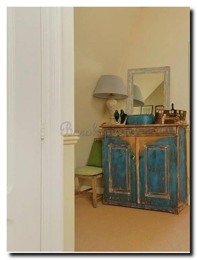 Brocante spiegel Brittany Grijsgroen medium 65mm