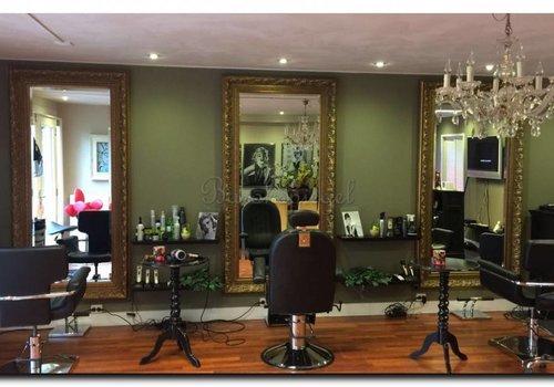 Friseursalon Spiegel