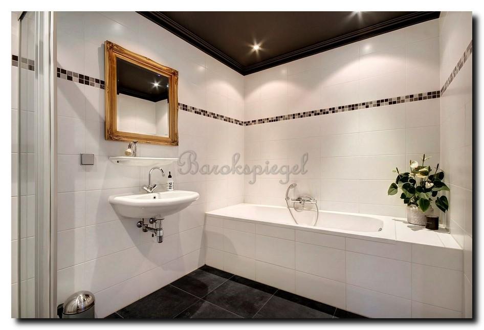 Gouden barok spiegel badkamer