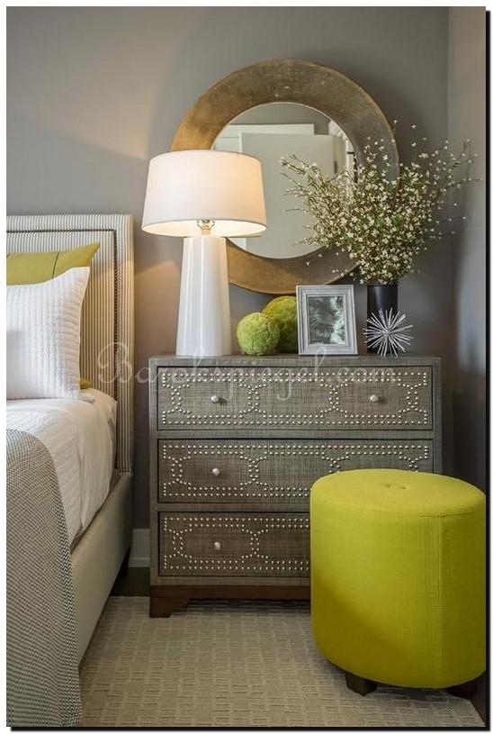 Gouden desigen spiegel slaapkamer