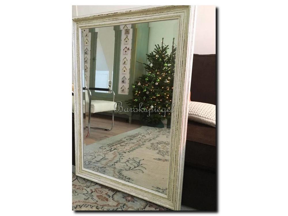 Beste Brocante landelijke spiegel Brittany in de kleur schelp wit EW-83