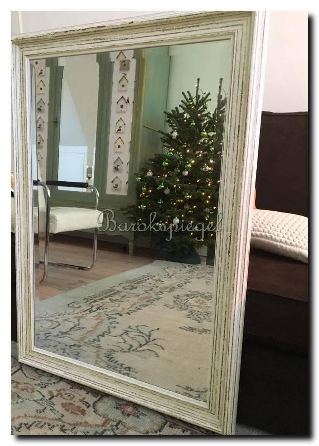 Brocante spiegel Brittany Wit medium 65mm