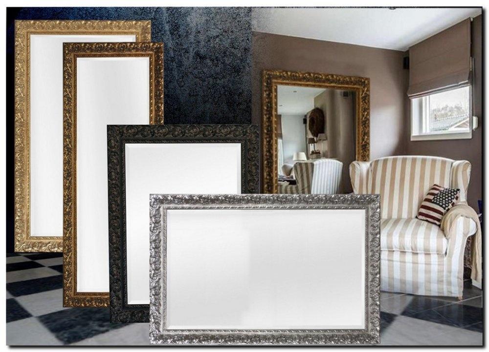 Grote Wandspiegel met zeer brede lijst Antonio