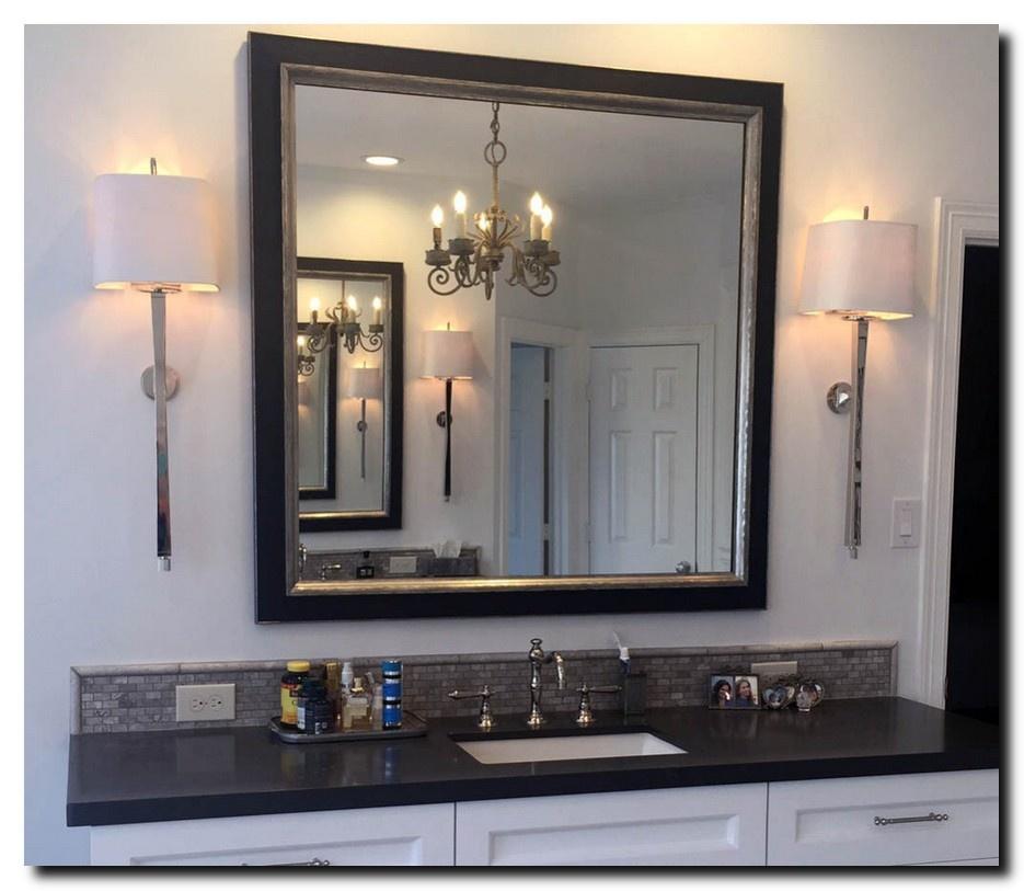 Moderne spiegel Lucerne Zwart-zilver small 29mm