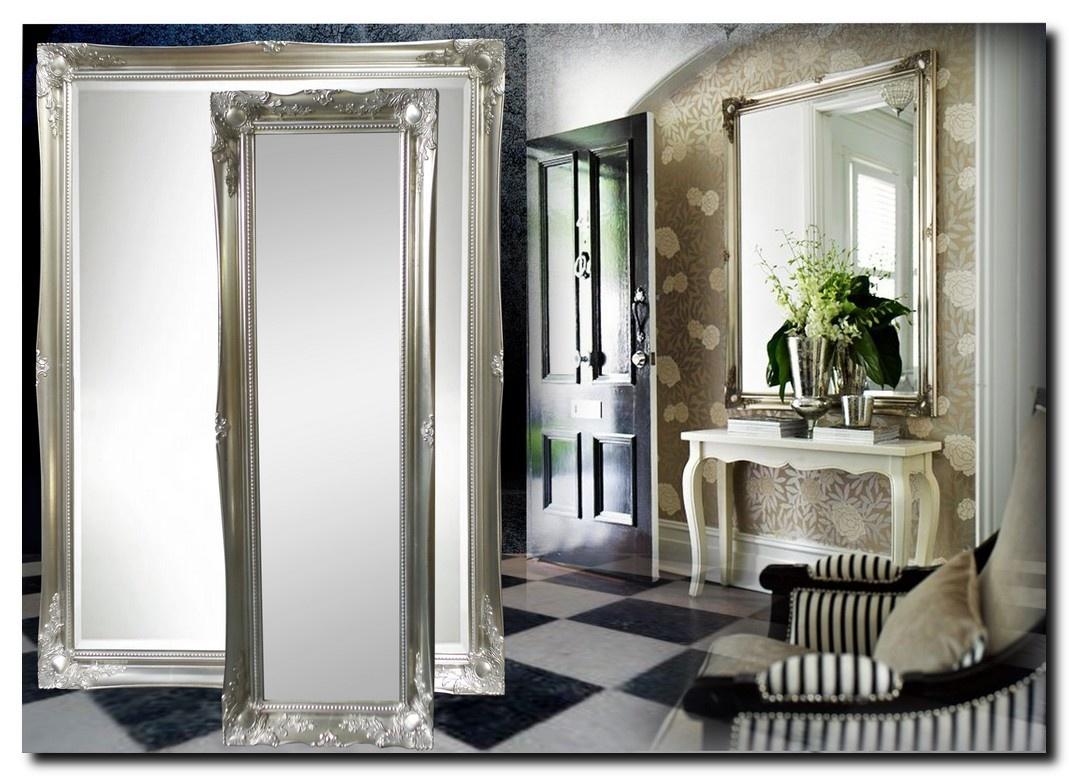 Spiegel Ethan met barok zilveren lijst