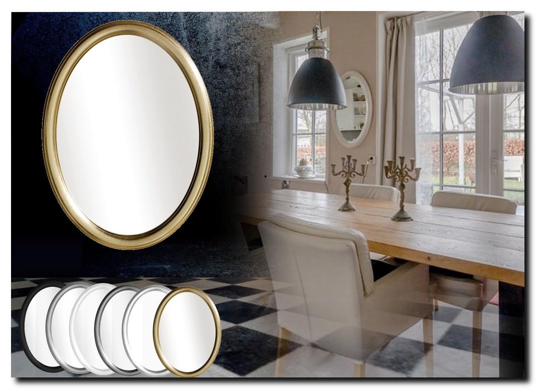 Strakke ovale spiegel Benedetta
