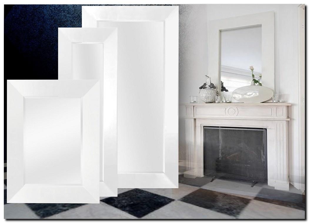 Romano spiegel met moderne witte lijst