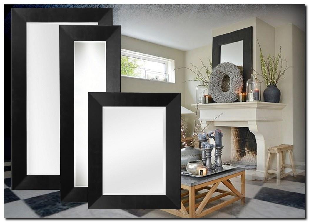 Moderne Spiegel Romano Zwart