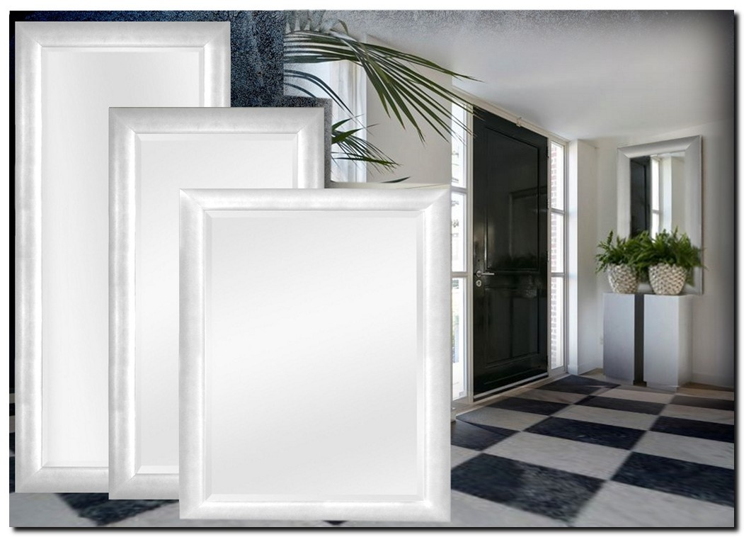 Moderne Spiegel Enzo Helder Zilver