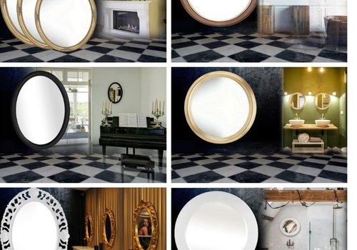 Ovale en Ronde Spiegels