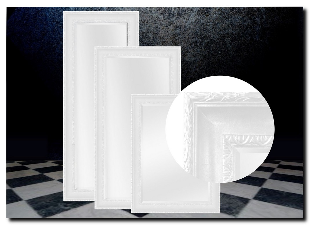 Elegante spiegel Leonardo Wit