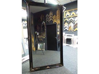 Barokspiegel.nl Mirror Orfeo black-antiquegold  Sale!