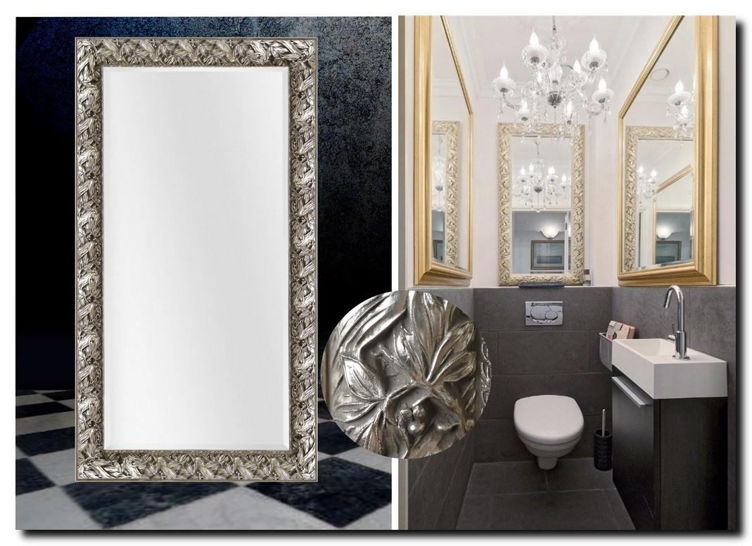 Barok spiegel Olimpia zilver Aanbieding!