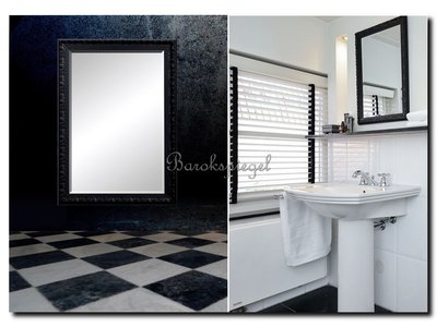 Barokspiegel.nl Mirror Douwe black laquered  Sale!
