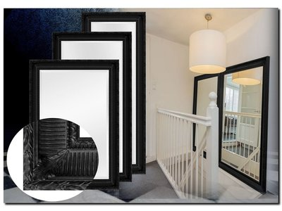Barokspiegel.nl Mirror Mauro Black
