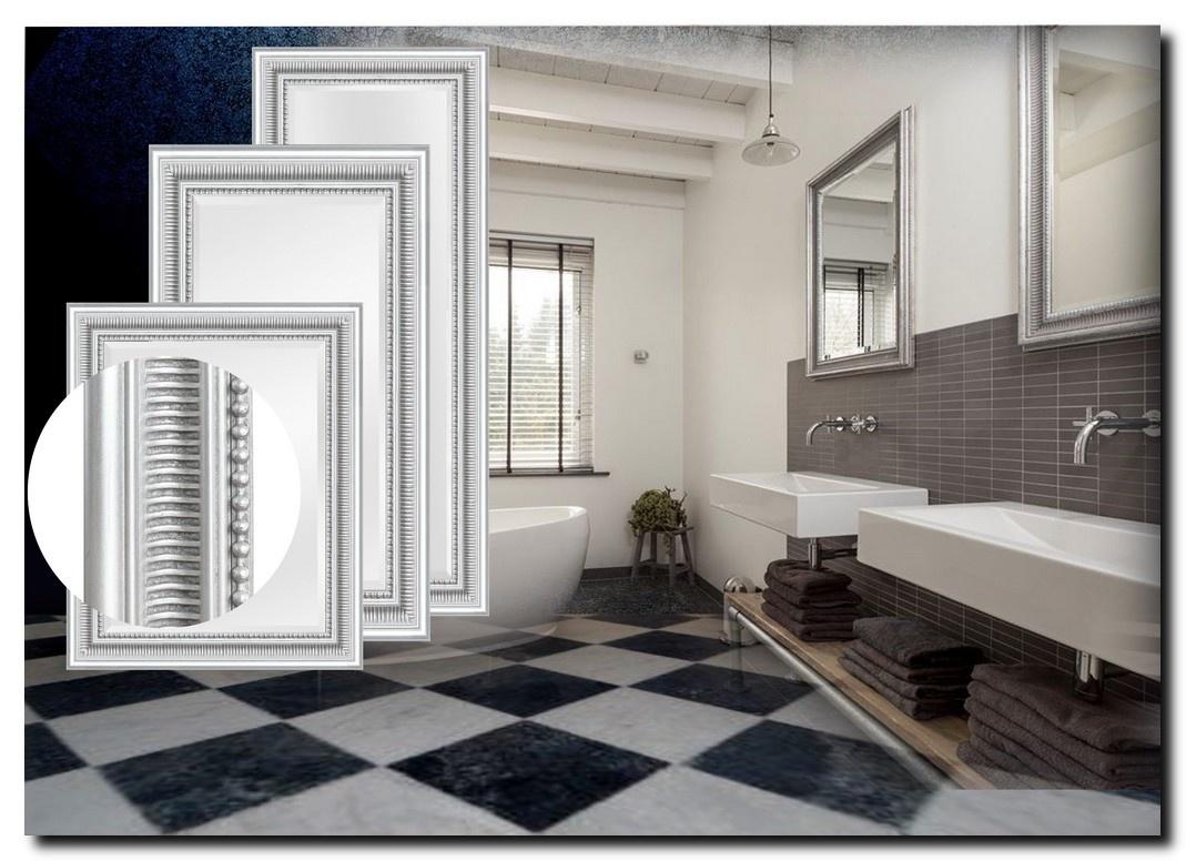 Modern Klassieke Spiegel Cesarino Zilver