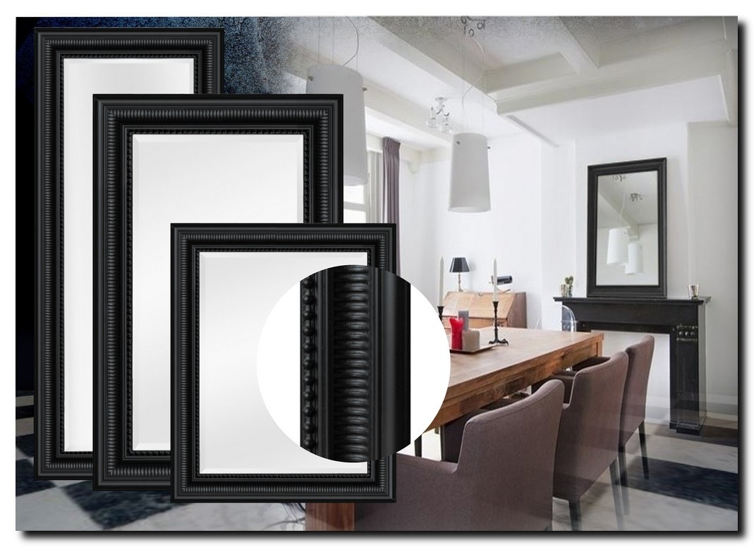 Modern Klassieke Spiegel Cesarino Zwart
