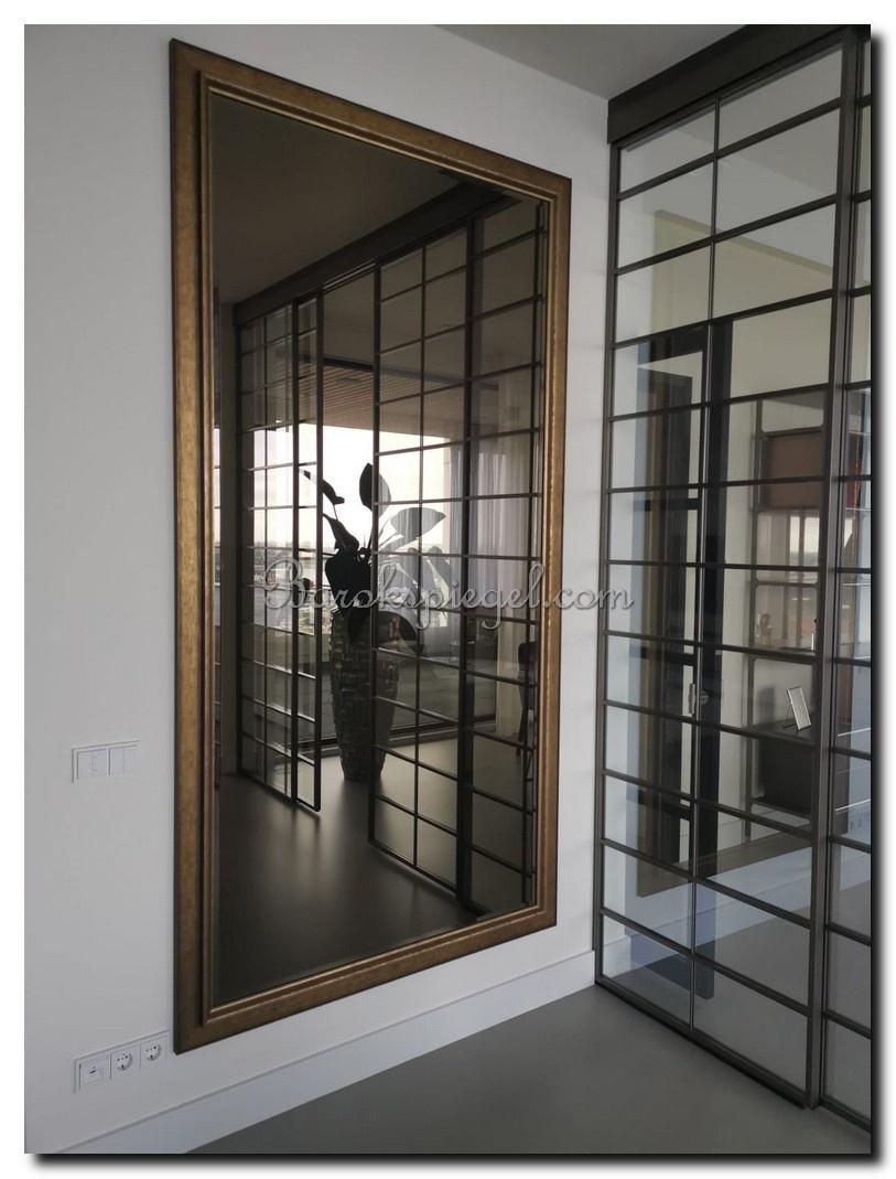 Moderne spiegel Lucerne Goud large 93mm