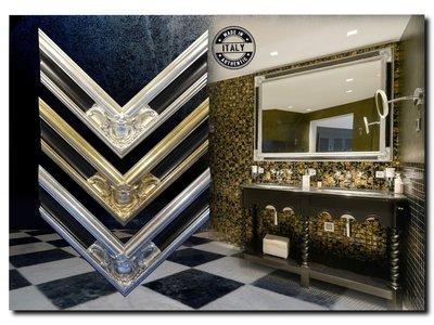 Barokspiegel.nl Mirror Basilio Antiquegold-Black