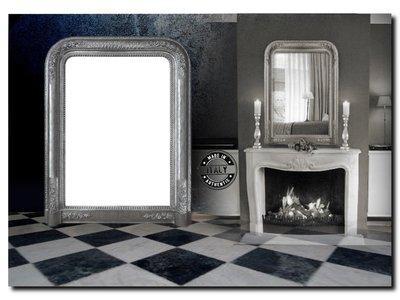 Barokspiegel.nl Mirror Romeo Antiquesilver