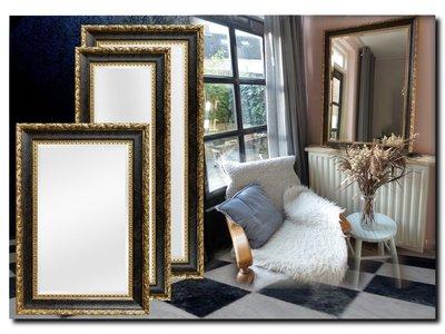Barokspiegel.nl Mirror Ponzio Antiquegold-black