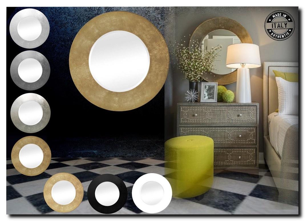 Moderne Ronde spiegel Nunzia