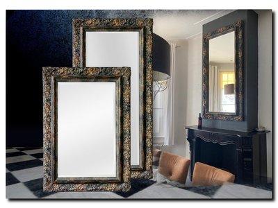 Barokspiegel.nl Mirror Allesandro Shabby Black-Gold