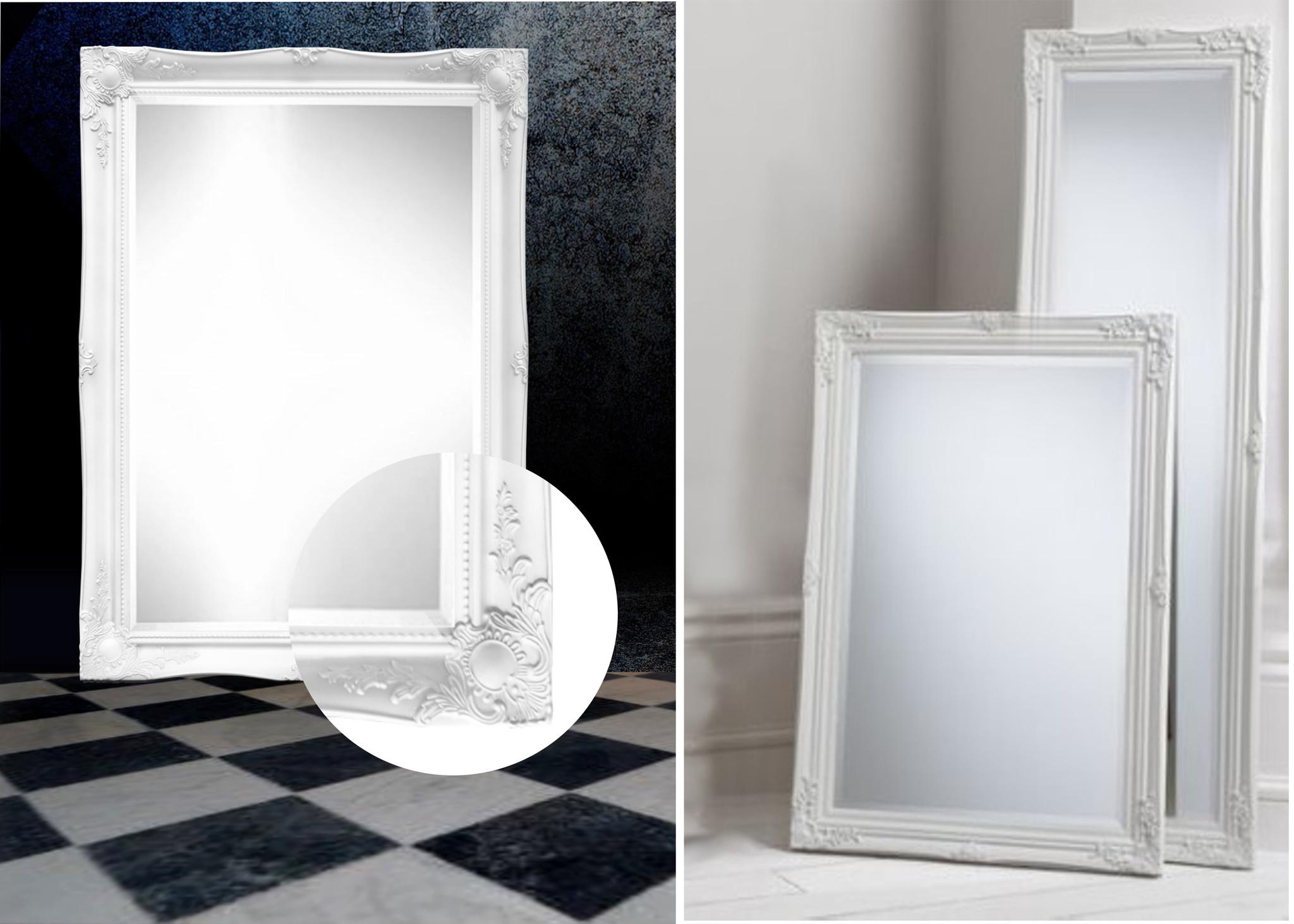 Wit klassiek en licht barok Spiegel Ethan