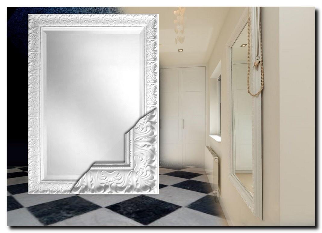 Barokke spiegel Prague Hoogglans wit
