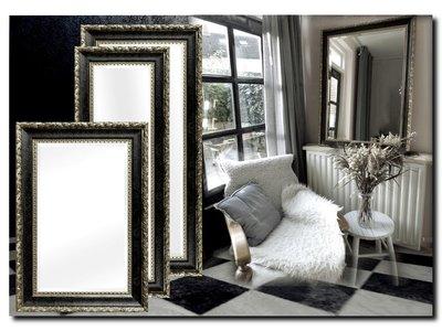 Barokspiegel.nl Mirror Ponzio Antiquesilver-black