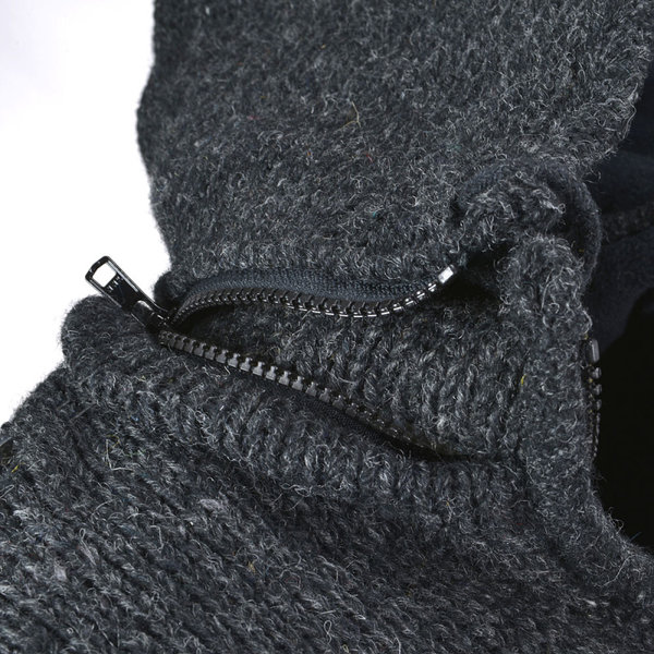 Pure Wool Pure Wool herenvest  WJK 1323  Antraciet
