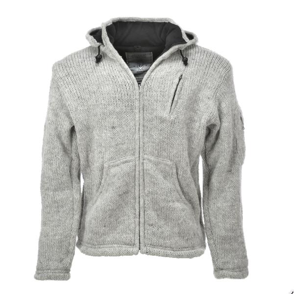 Pure Wool Pure Wool herenvest WJK-1323 Ecru