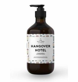 The gift label Handzeep pompje: hangover hotel