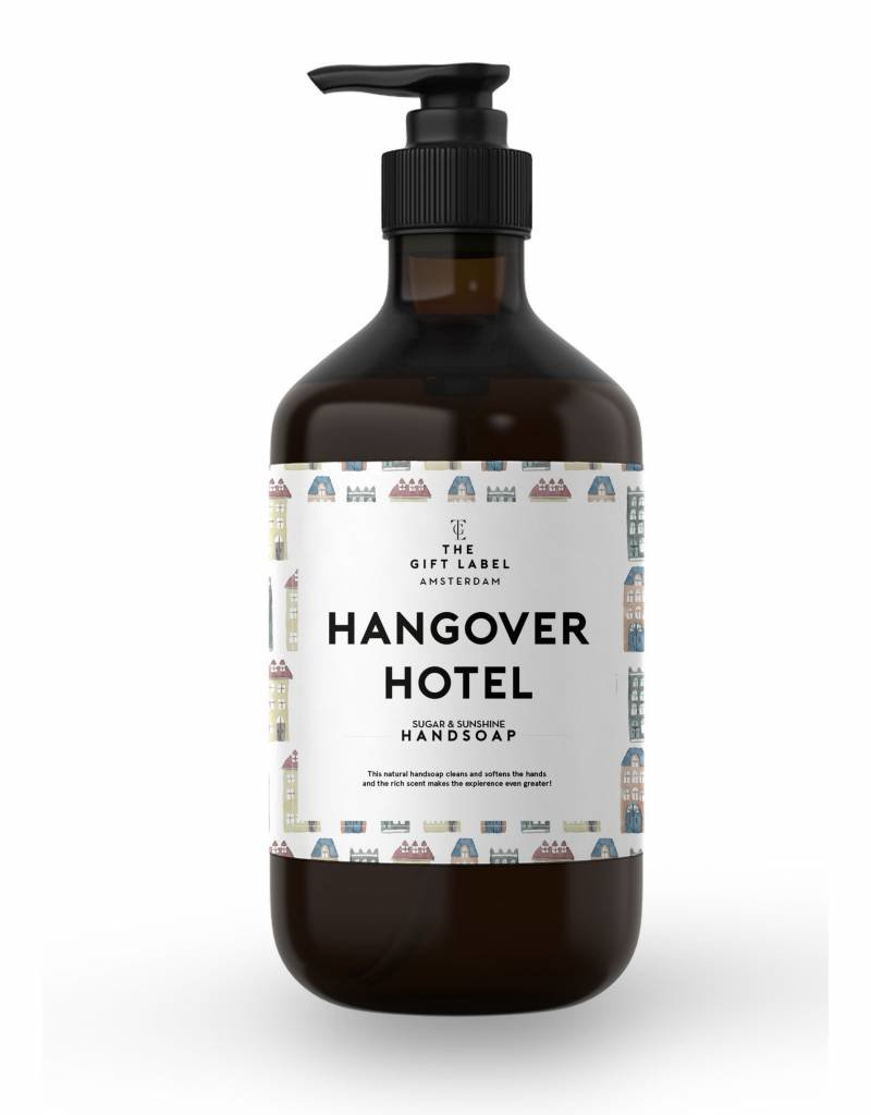 The gift label Handzeep pompje: hangover hotel