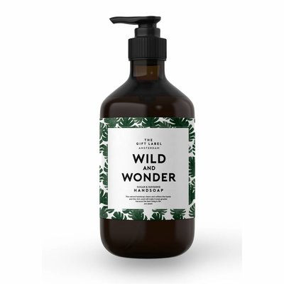 The gift label Handzeep pompje: wild & wonder