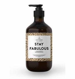 The gift label Handzeep pompje: stay fabulous