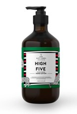The gift label Handzeep pompje: high five