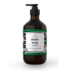 The gift label Handzeep pompje: high five