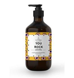 The gift label Handzeep pompje: you rock