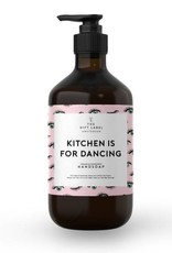 The gift label Handcreme pompje: kitchen is for dancing