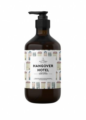 The gift label Handcreme pompje: hangover hotel