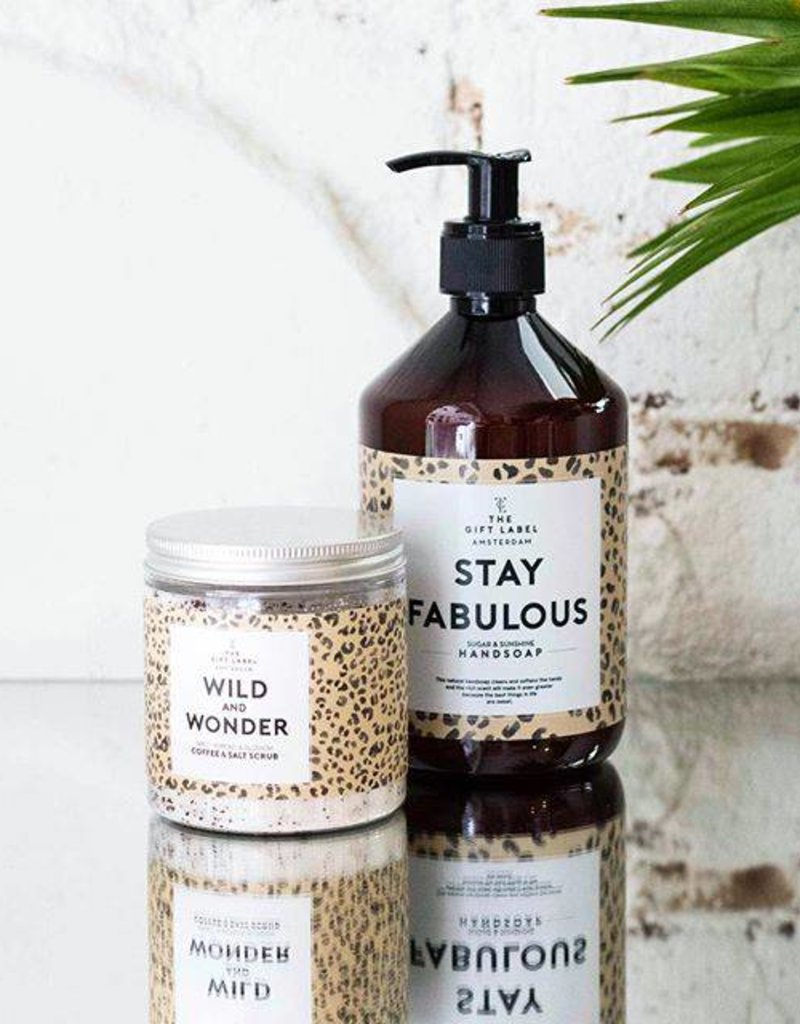 The gift label Handcreme pompje: stay fabulous